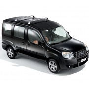 Doblo Aluminum Roof Bars (2x Roof Bars and Shield) - Strong Build