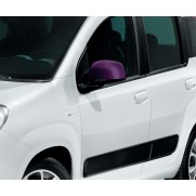 Panda Shadow Side Mirror Cover/Replacement Caps - Violet - Set of 2
