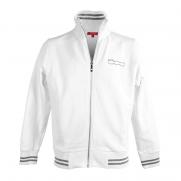 Men's White 500 Sweatshirt With Front Zip