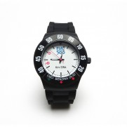 Black 500 Vintage Silicone Quartz Watch