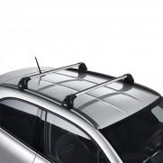 500X Longitudinal Roof Railing Kit for Cross Bars in Silver Shining