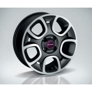 "New Fiat Panda 15"" Alloy Wheels Dark Grey/Diamond Cut - Set of Four"