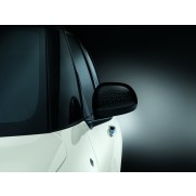500L Side Mirror Covers/Replacement Caps-Black-Technics Effect-Pair