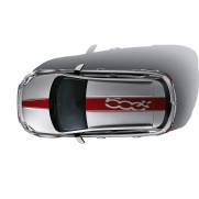 Fiat 500X Sticker Stripes for Roof and Bonnet - Red