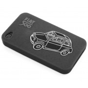 Classic Fiat 500 iPhone Cover - Black
