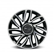 "500L|17"" Alloy Wheel Dual Spokes Diamond Design-Silver-Set of 4"