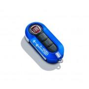 Fiat Punto Electric Blue Key Cover - White Arrows Design