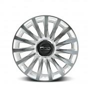 """Fiat 500L 17"""" Two Tone White Diamond Alloy Wheels - Set of 4."""