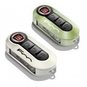 500|500C|500L-Trekking|500L-Estate Key Covers In Pastel Green/White