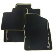 500 Car Floor Tailored Fitted Mats Ivory Logo Premium Carpet Full Set Twin Fixings